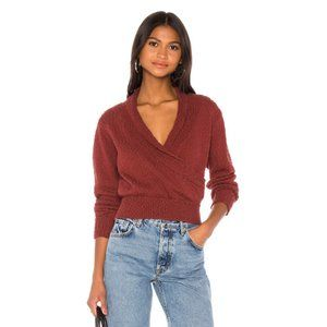 Callahan Risa Cotton Knit Top in Burgundy